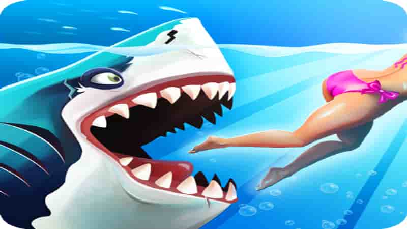 تحميل لعبة hungry shark مهكرة